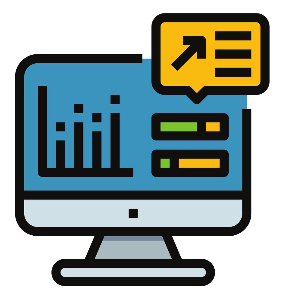 Sales data & reports icon
