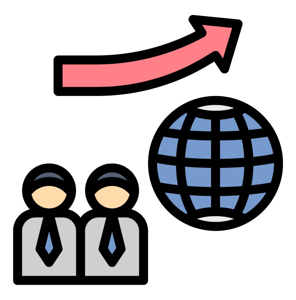 Global economic impact icon