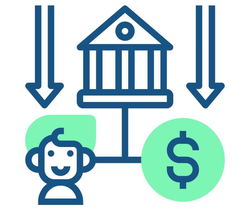 Debt financing icon