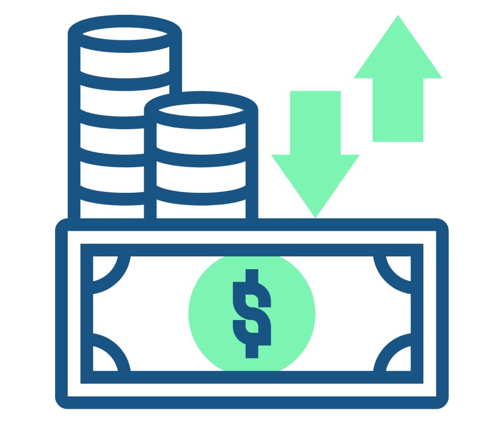 Cash flow planning icon
