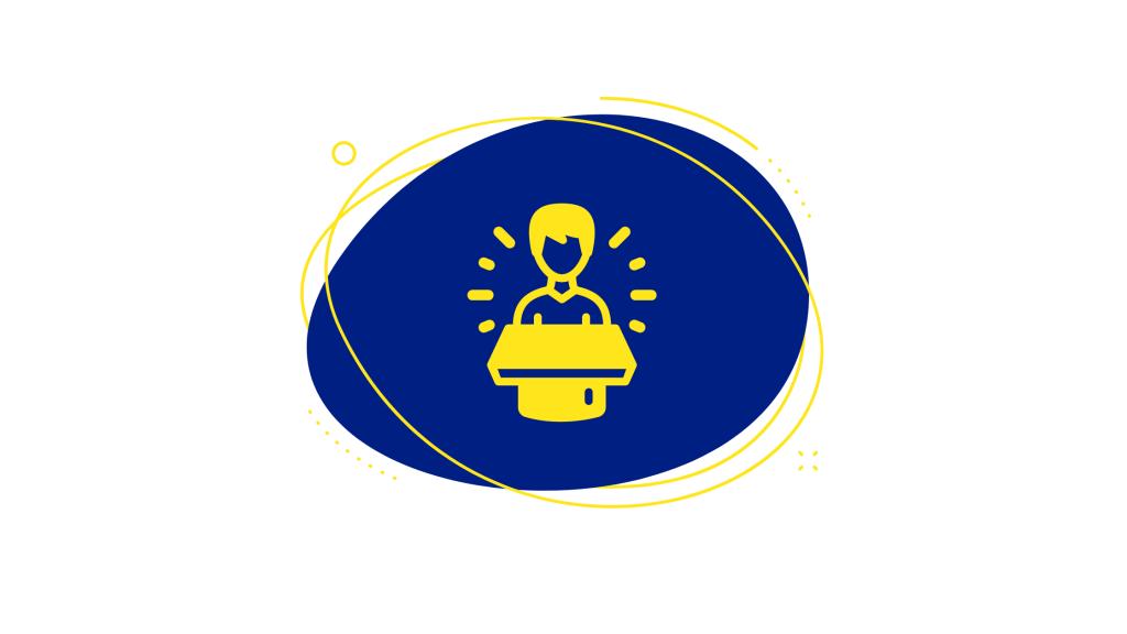 Advertisement chat bubble icon