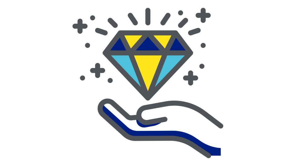 Hand with diamond