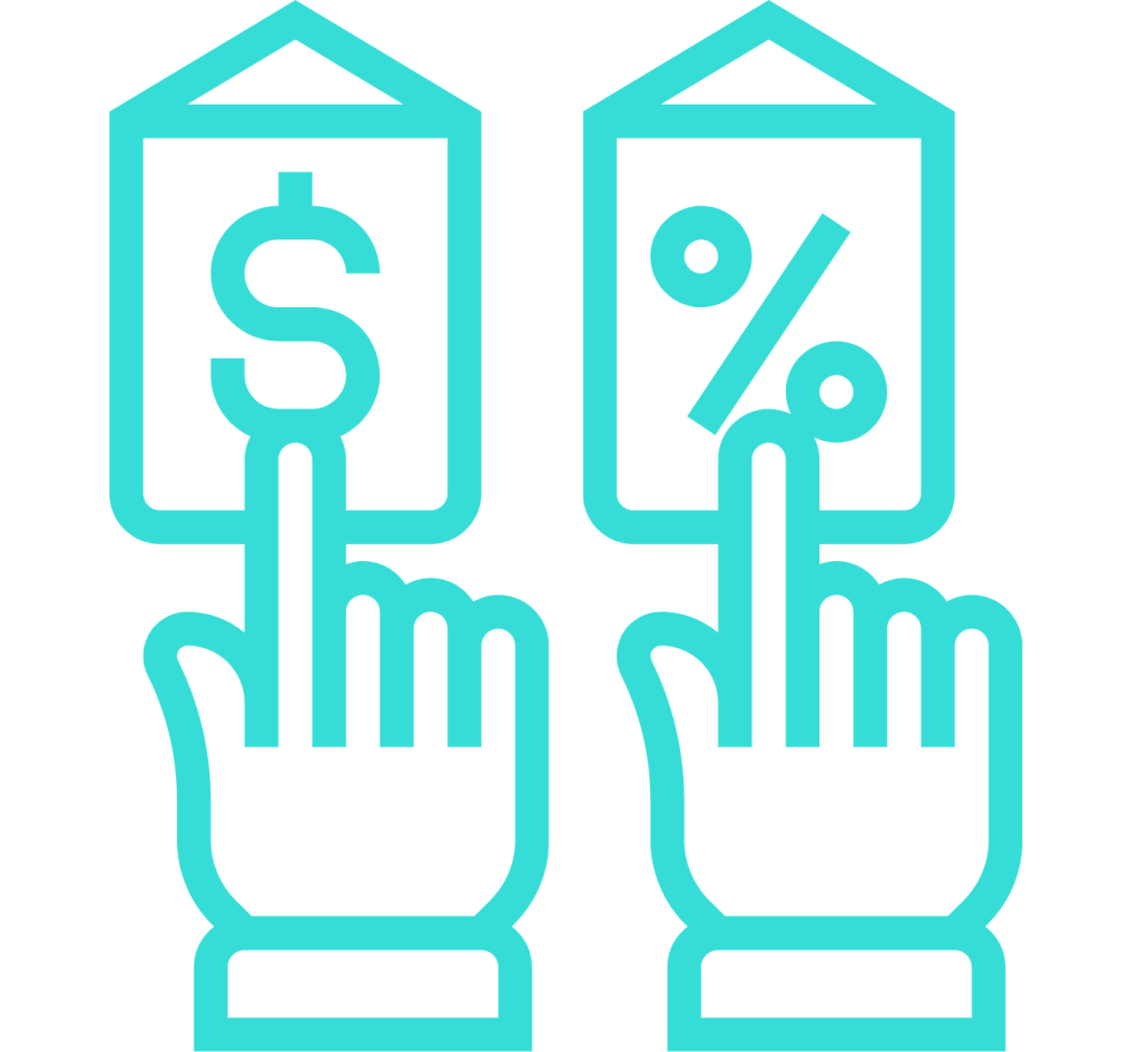 Choose between pricing or discount
