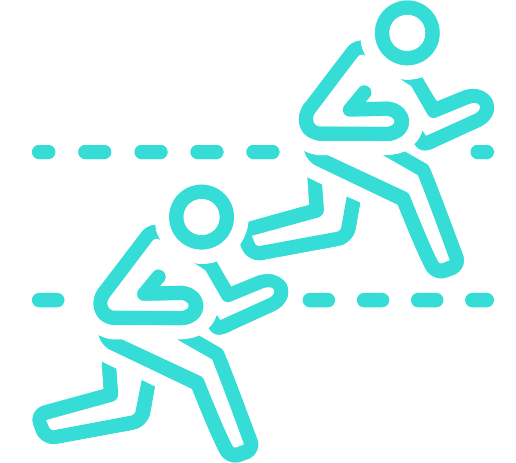 Two men competing