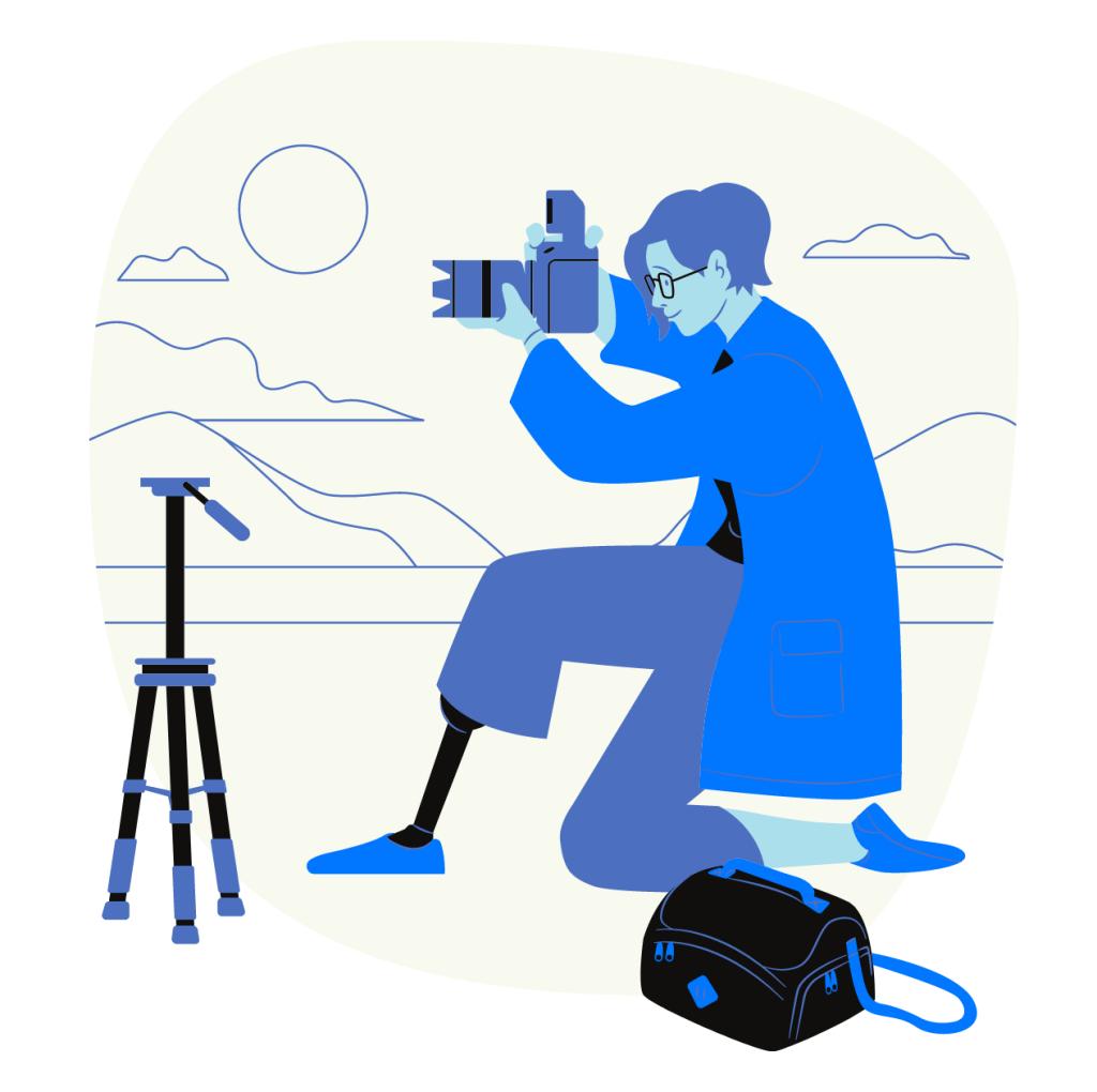 Working woman photographer