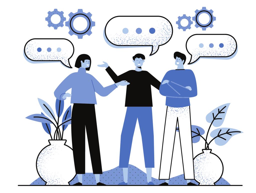Message chat illustration
