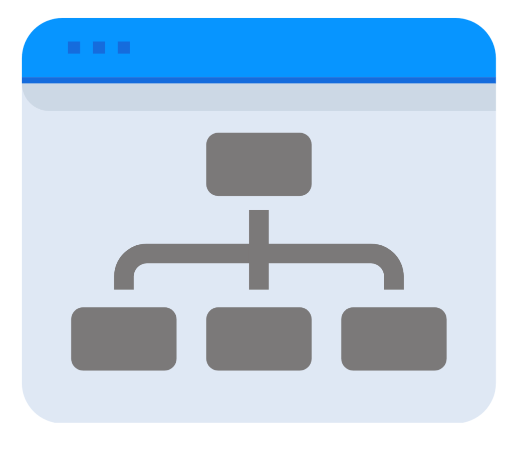 Business workflow and process icon