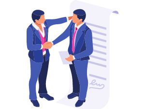 Contract deal drawing