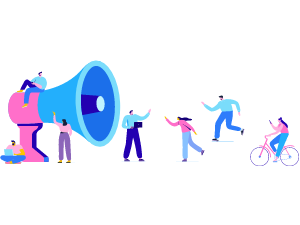 Group of people working illustration