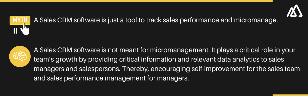 Sales CRM myth 2: A Sales CRM software is just a tool to track sales performance and micromanage