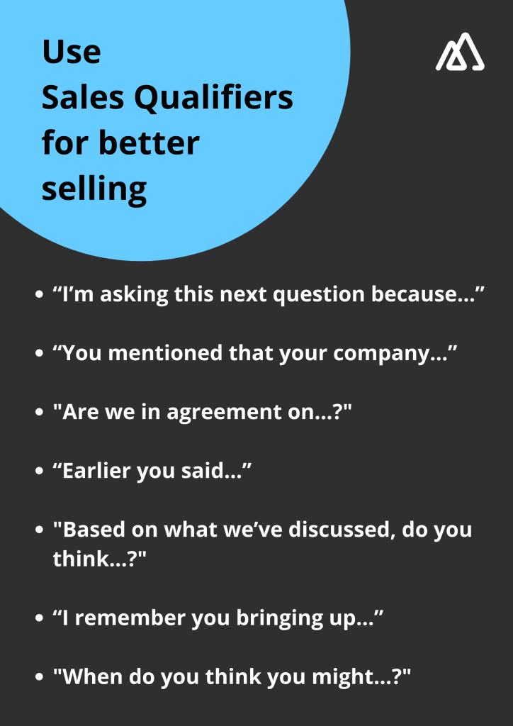 Sales qualifier questions to help sales engage customers better