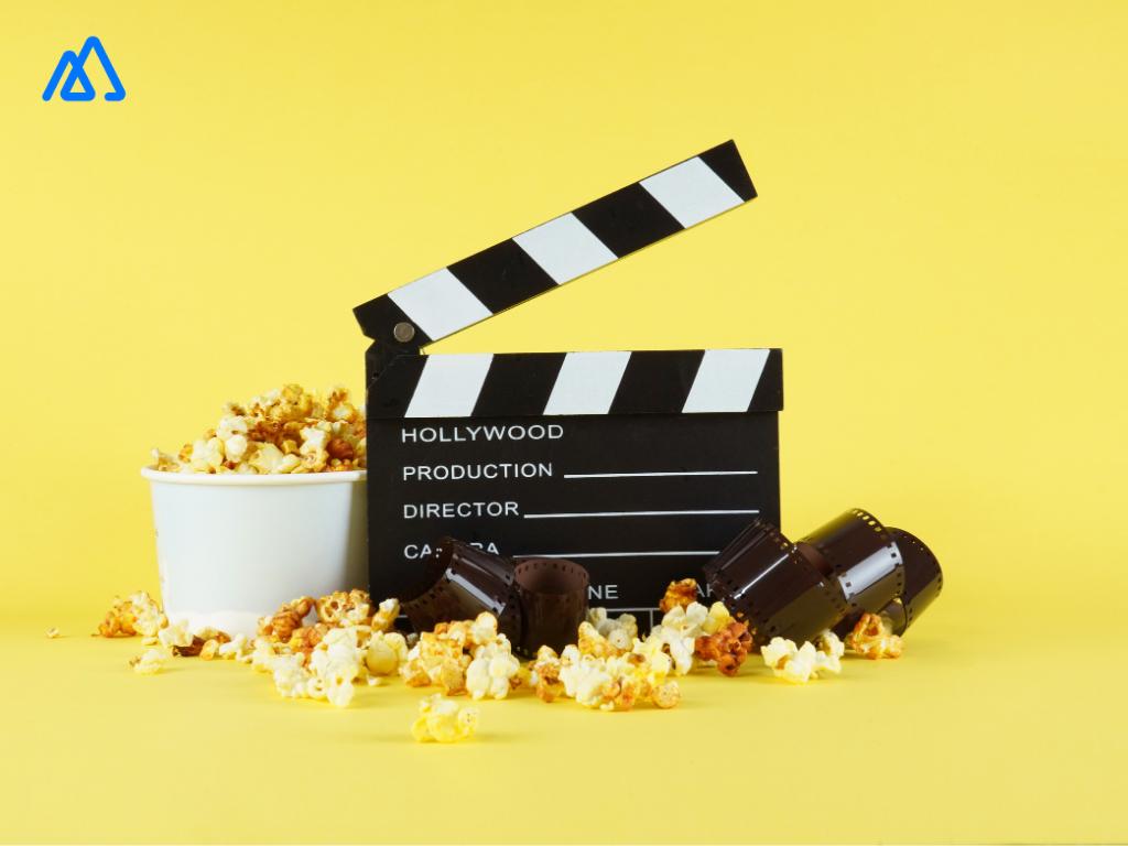 Movie take popcorn film negative