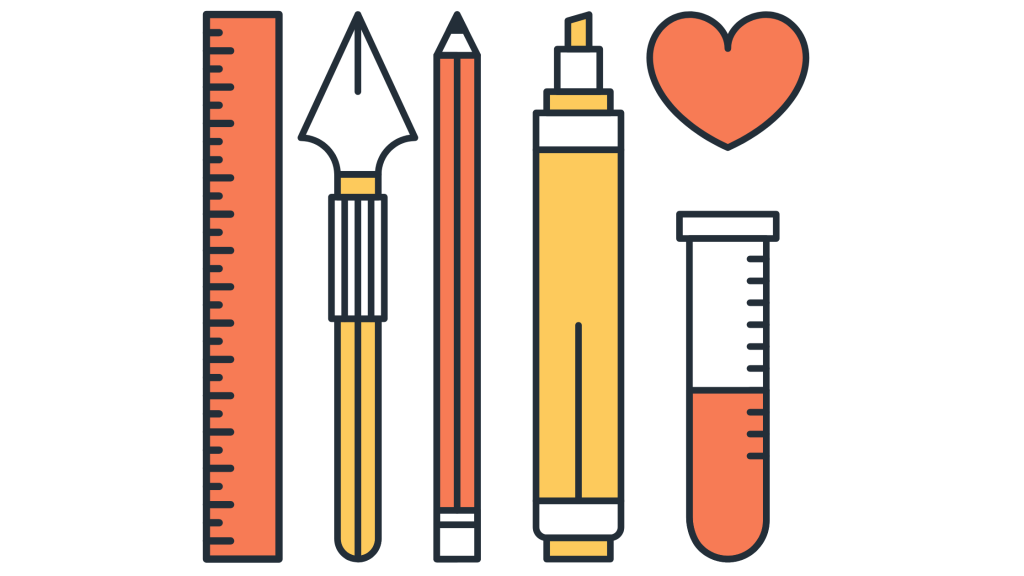 An assortment of educational tools