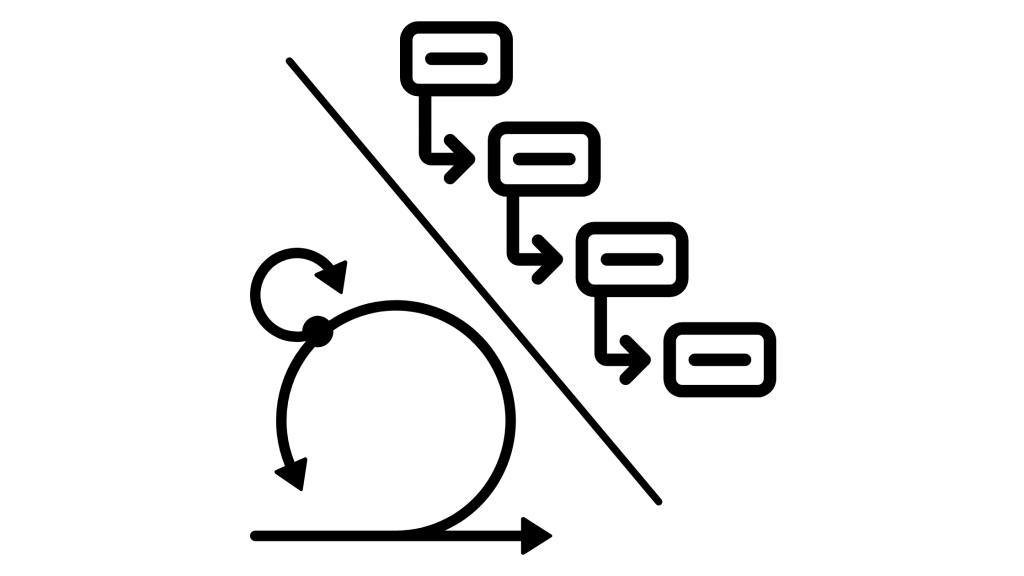 Bimodal - Agile and waterfall project management icons