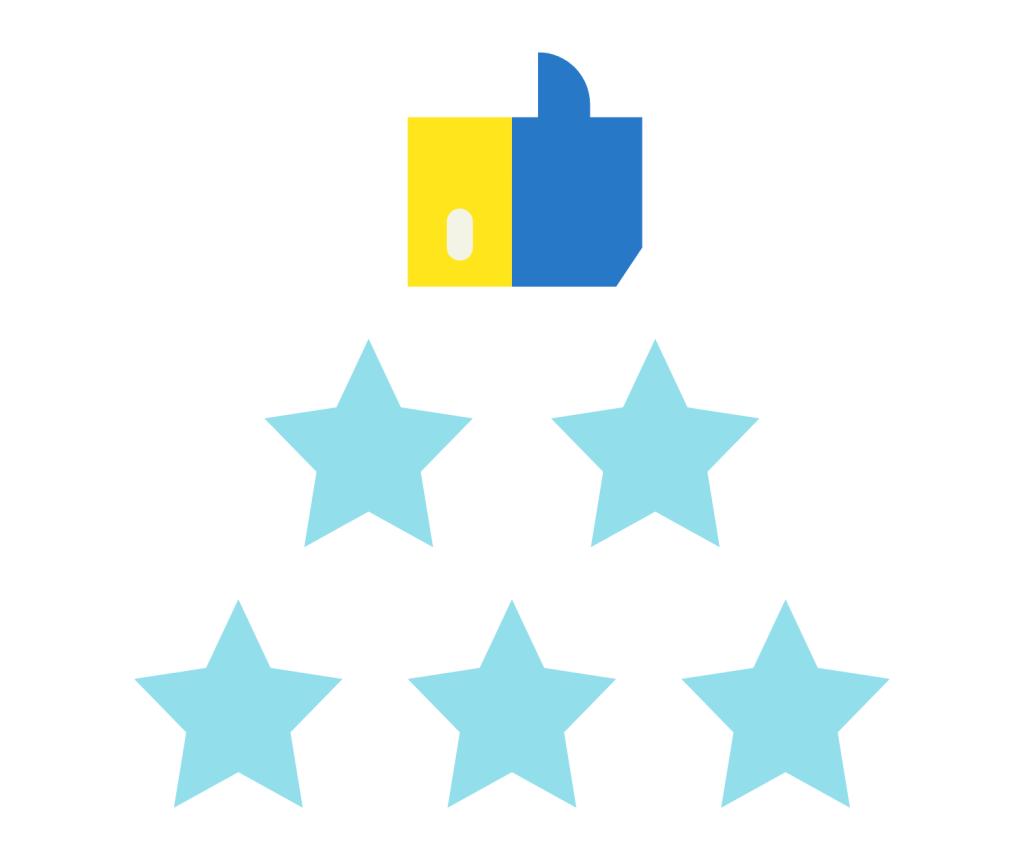 Client review testimonial icon