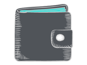 Drawing of a wallet
