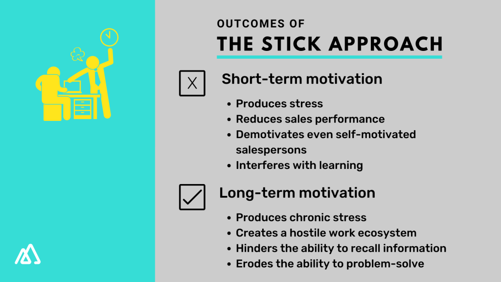 Outcomes of the stick approach in the short and long term