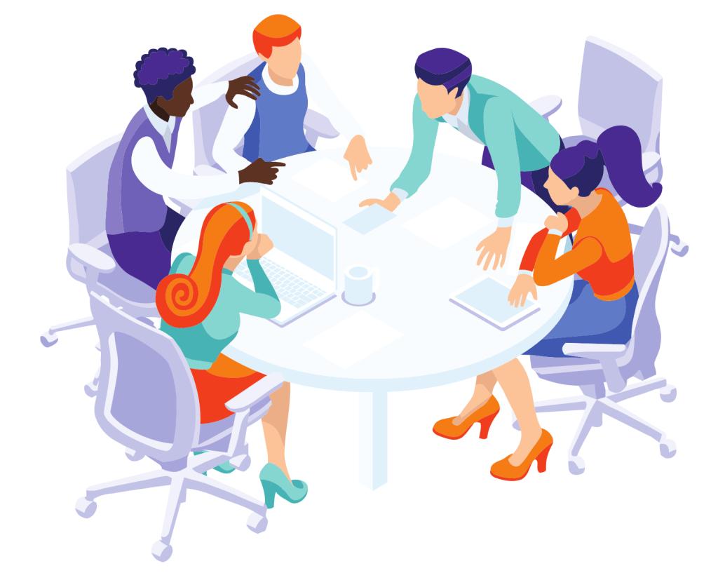 Leader focus group meeting