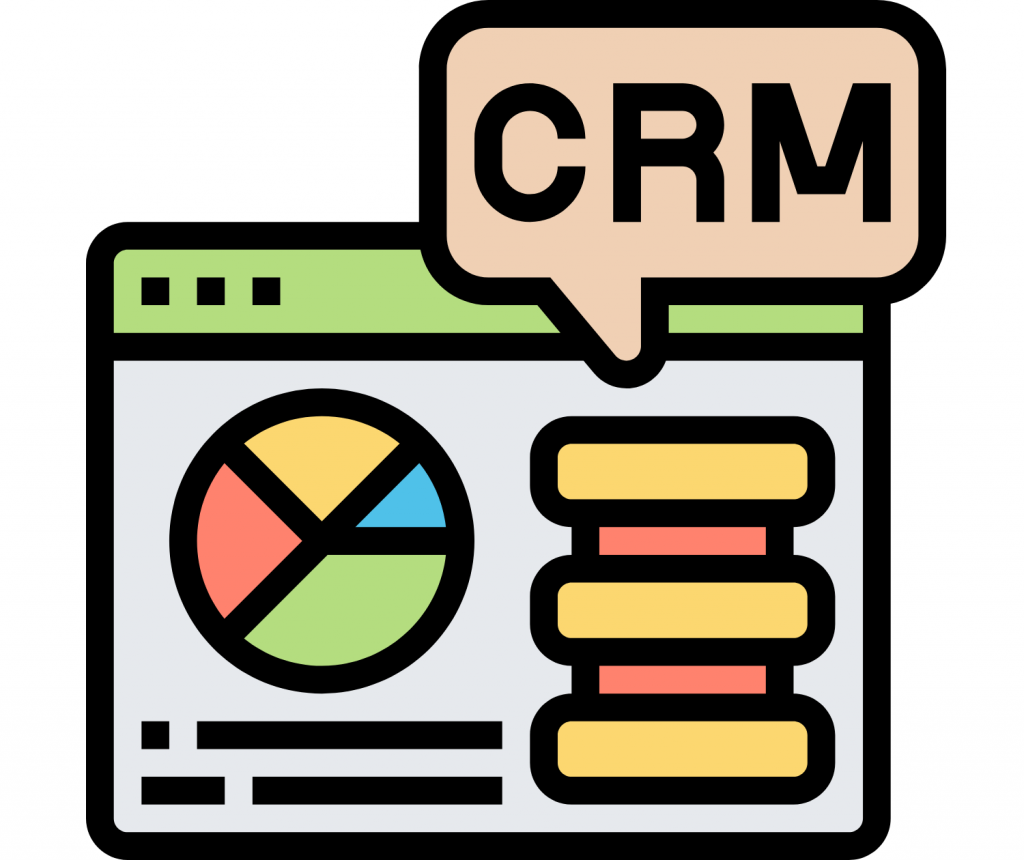 CRM on computer