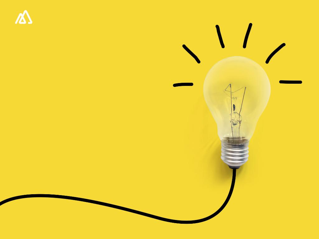 Light bulb yellow bg