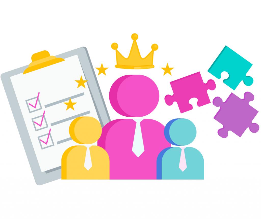 employess, process, customers