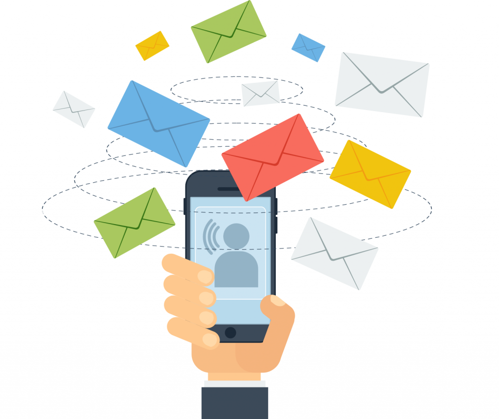 sending emails from mobile