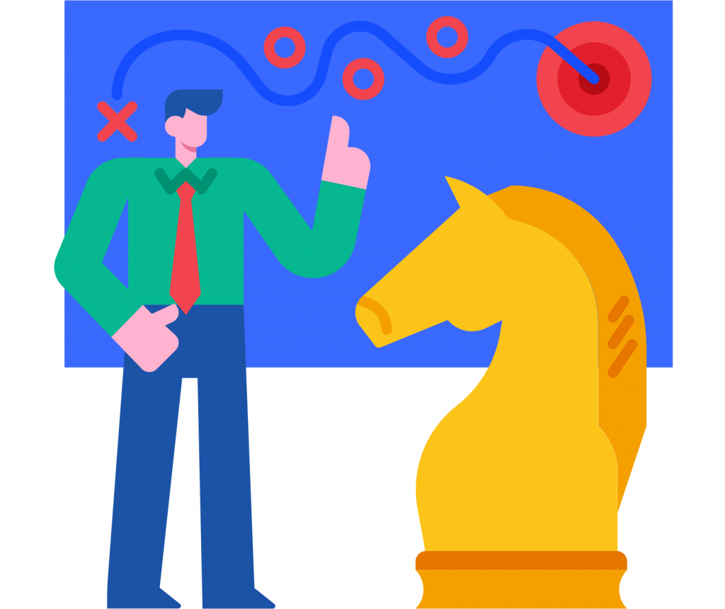 man with a yellow horse