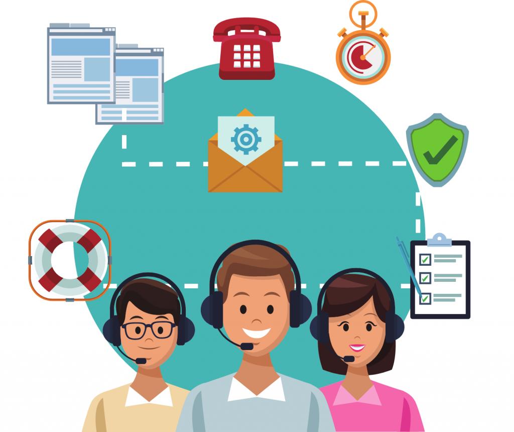 3 customer service executives