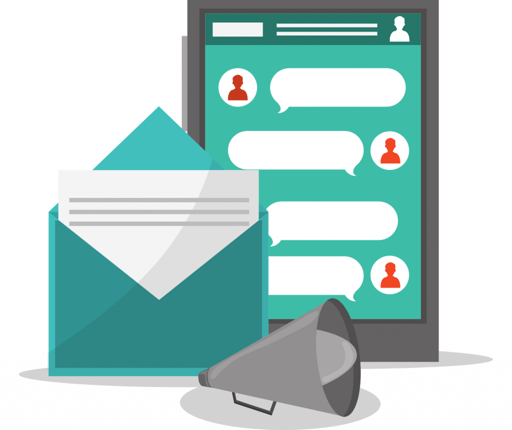 messaging and email icons