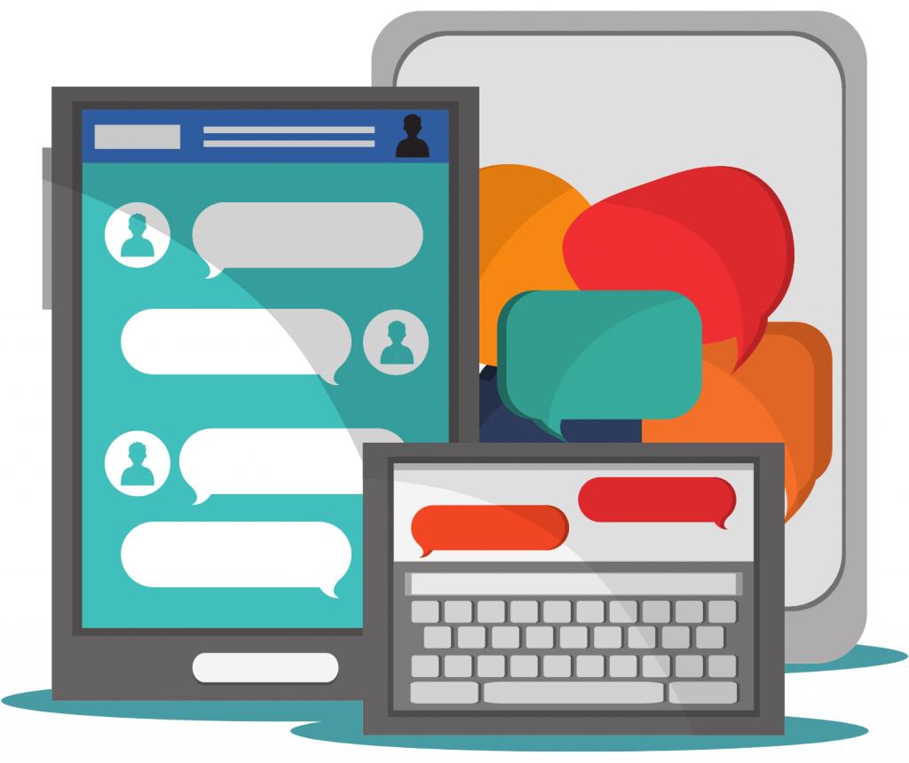 mobile messaging laptop