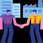 two men closing a deal