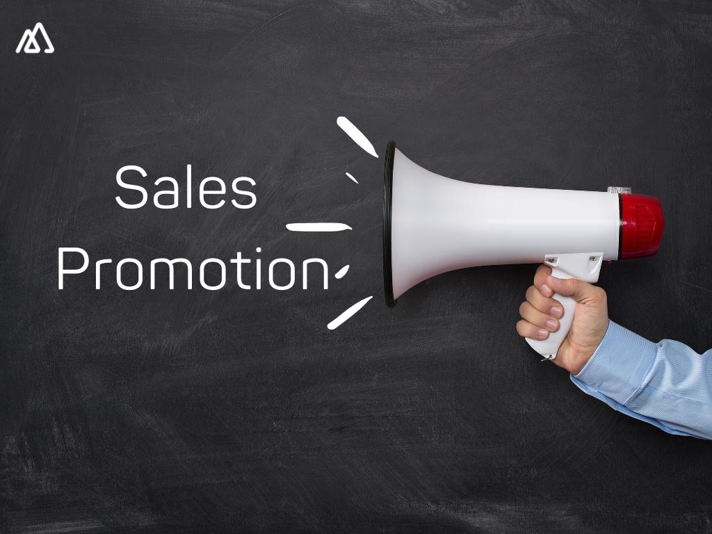 A loudspeaker shouting Sales Promotion