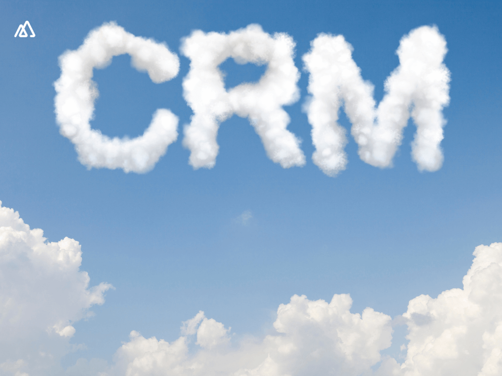 cloud with Sales CRM written on it